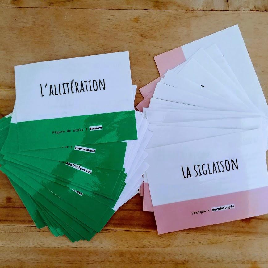 cartes flash de français